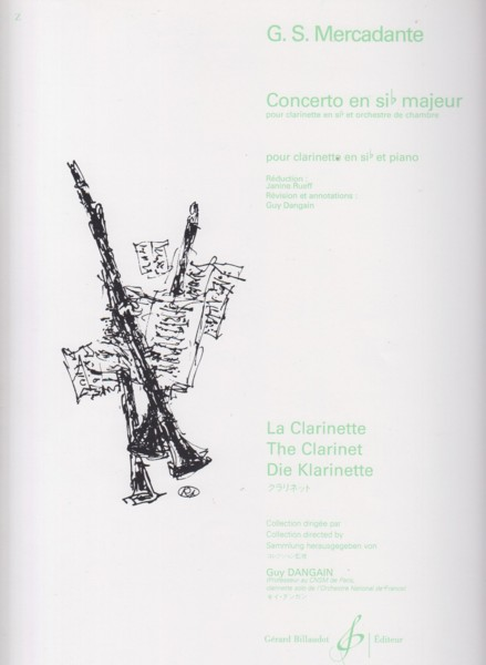 Image for Clarinet Concerto in B flat - Clarinet in B flat & Piano