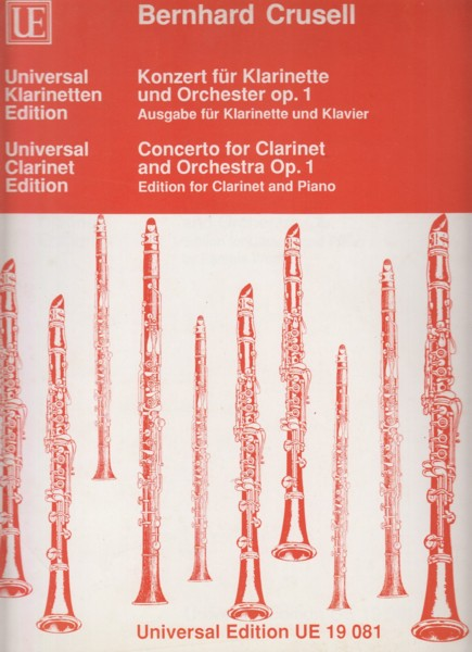 Image for Clarinet Concerto, Op.1 - Clarinet & Piano
