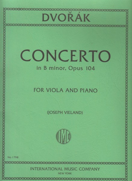 Image for Concerto in b minor, Op.104 - Viola & Piano
