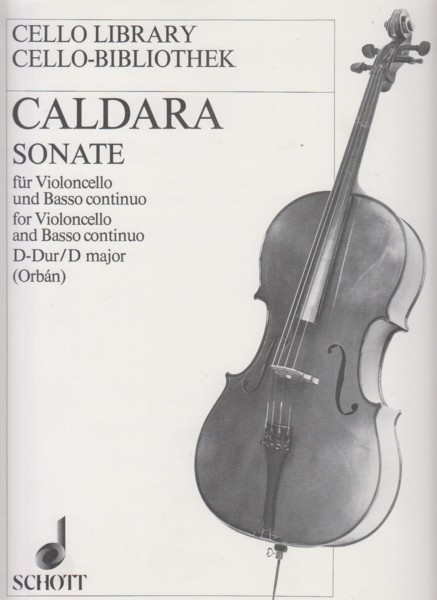 Image for Sonata for Cello and Basso continuo in D major