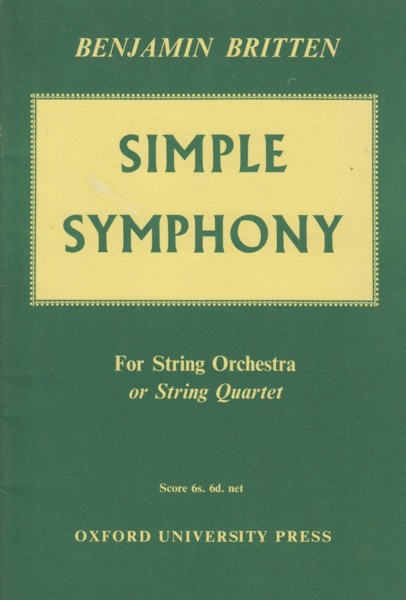 Image for Simple Symphony for String Orchestra or String Quartet - Study Score