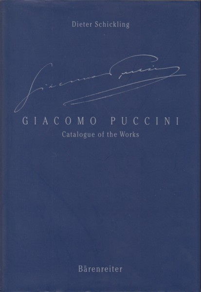 Image for Giacomo Puccini - Catalogue of the Works