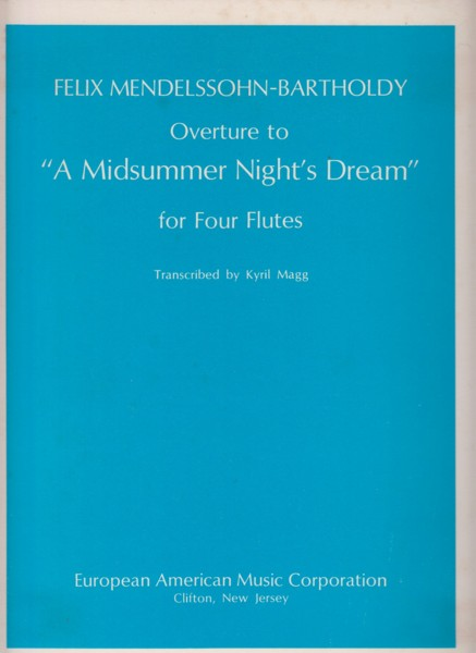 "Image for Overture to ""A Midsummer Night's Dream"" for Four Flutes"
