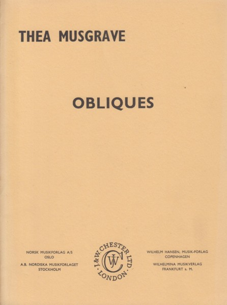 Image for Obliques for Orchestra - Study Score