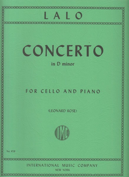 Image for Cello Concerto in d minor - Cello & Piano
