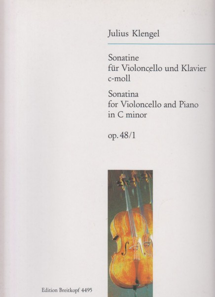 Image for Sonatina in c minor, Op.48/1 for Cello & Piano