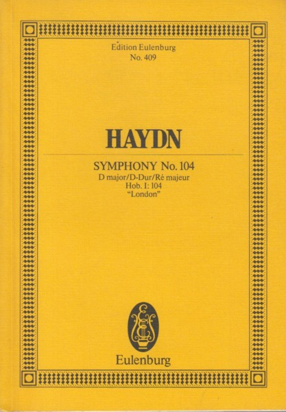 "Image for Symphony No.104 in D major, Hob.I:104 ""London"" - Study Score"