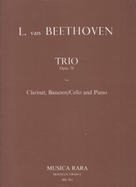 Image for Trio in E flat major, Op.38 for Clarinet in B flat, Bassoon (Cello) and Piano - Set of Parts