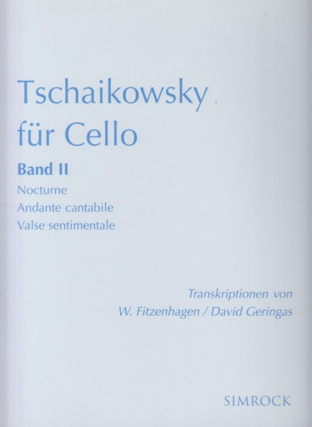 Image for Tchaikovsky for Cello Book II - Cello & Piano