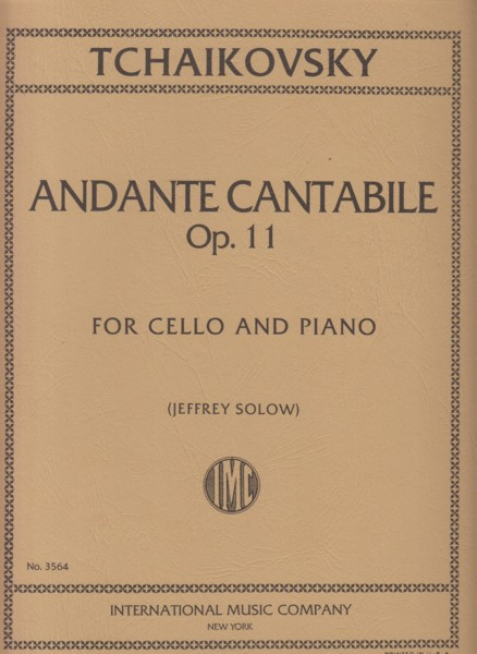 Image for Andante Cantabile, Op.11 for Cello & Piano