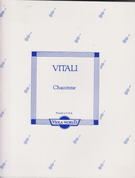 Image for Chaconne for Viola & Piano