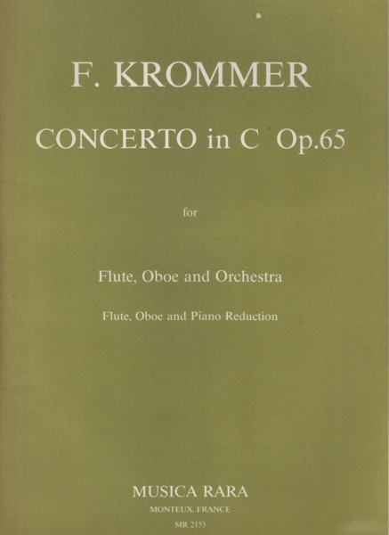 Image for Concerto in C, Op.65 for Flute, Oboe & Orchestra - Flute, Oboe & Piano