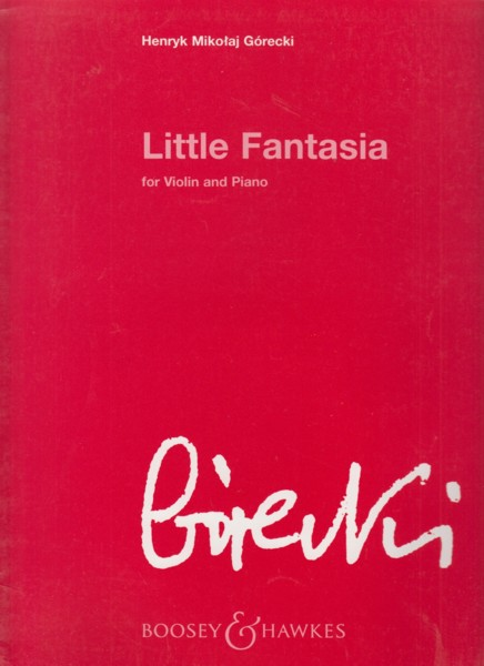 Image for Little Fantasia Op.73 (1997)  for Violin & Piano