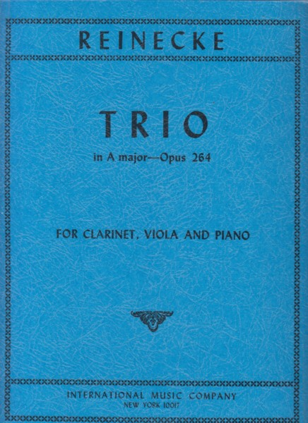 Image for Trio in A major Op.264 for Clarinet in A, Viola and Piano - Set of Parts