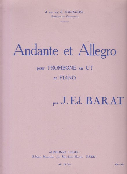 Image for Andante et Allegro for Trombone and Piano