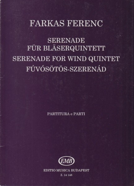 Image for Serenade for Wind Quintet - Score & Parts