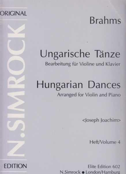 Image for Hungarian Dances Volume 4, Nos.17 to 21 - Violin & Piano