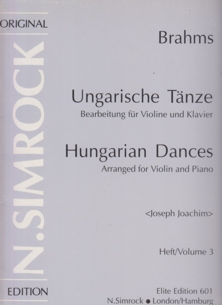 Image for Hungarian Dances Volume 3, Nos.11 to 16 - Violin & Piano