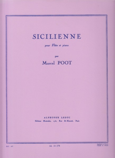 Image for Sicilienne for Flute and Piano