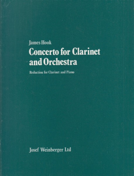 Image for Concerto for Clarinet and Orchestra - Clarinet & Piano