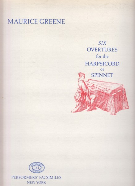 Image for Six Overtures for the Harpsichord or Spinet - Facsimile Edition