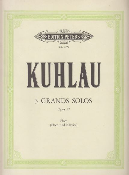 Image for 3 Grands Solos for Flute with Piano ad lib - Flute & Piano