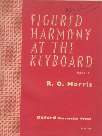 Image for Figured Harmony at the Keyboard - Part 1