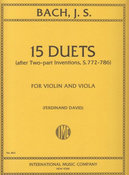 Image for 15 Duets for Violin & Viola (after Two-part Inventions) - Set of Parts