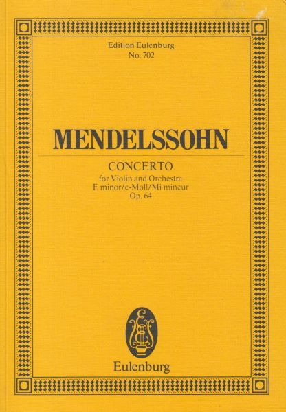 Image for Concerto for Violin and Orchestra in e minor, Op.64 - Study Score